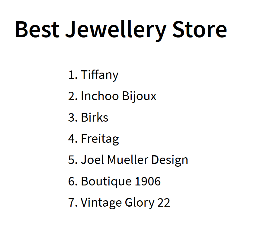 Inchoo Bijoux in 2nd place in Cult's Best of MTL