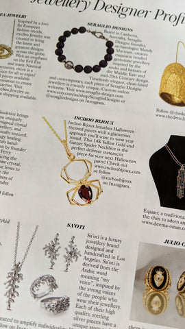 vogue uk november 2020 inchoo bijoux 14k yellow old garnet spider pendant serena williams