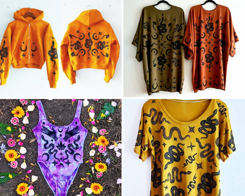 Inchoo Bijoux, Segra Soul, clothes, clothing, handmade, hand crafted, sterling silver, jewel, jewelry, top, hoody, kimono, handprinted, snake, medusa, gorgon, design, art, fashion, hand design, colour, colourful, serigraphy, banner, scarf, accessory, goth life, goth, goth lifestyle, alt fashion, alternative, alternative lifestyle, spooky, creature, obscur, occult, cemetery