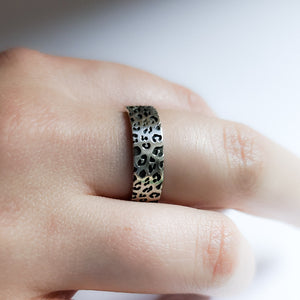 6mm Wide Leopard Print Ring Band - Inchoo Bijoux
