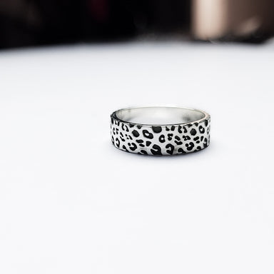 6mm Wide Leopard Print Ring Band-Ring-Inchoo Bijoux-Inchoo Bijoux