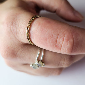 10K Yellow Gold Solid Chain Ring - Inchoo Bijoux