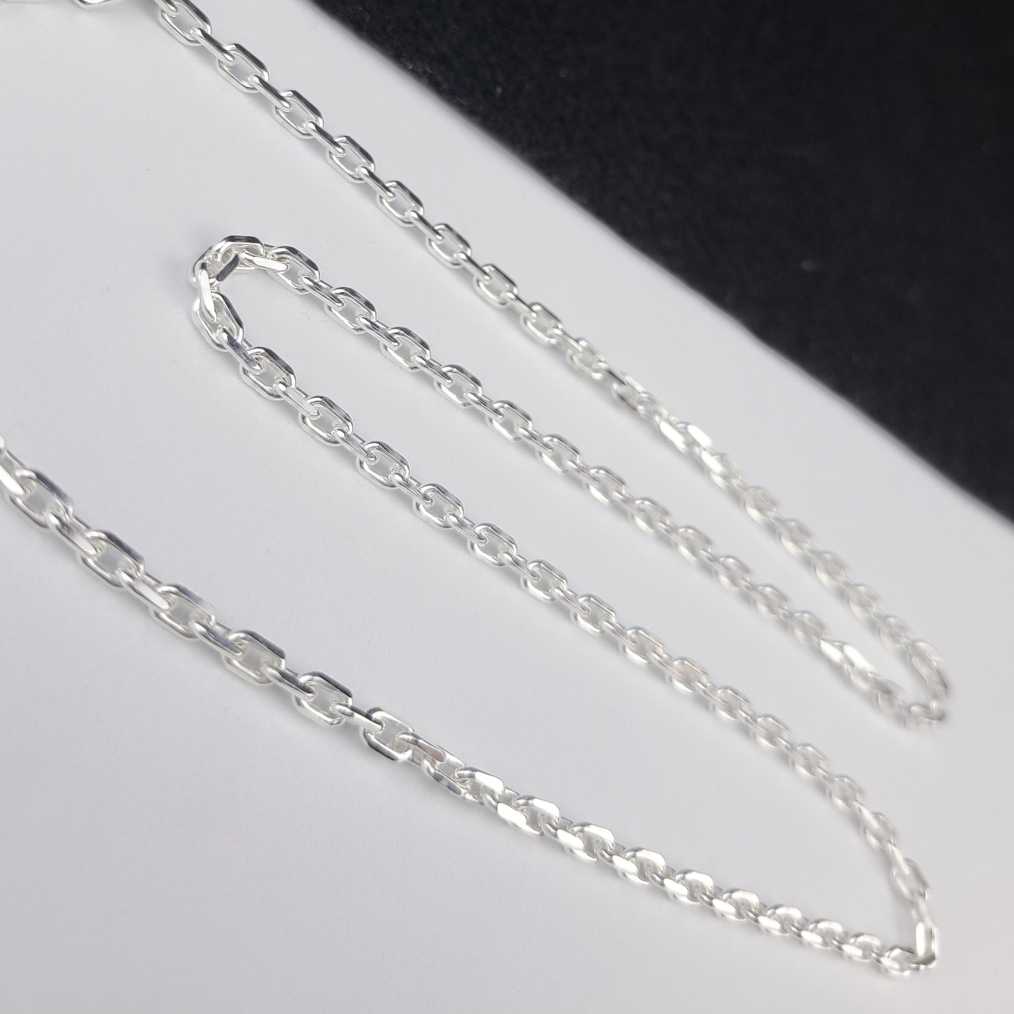 Heavy 4mm Diamond Cut Cable Chain