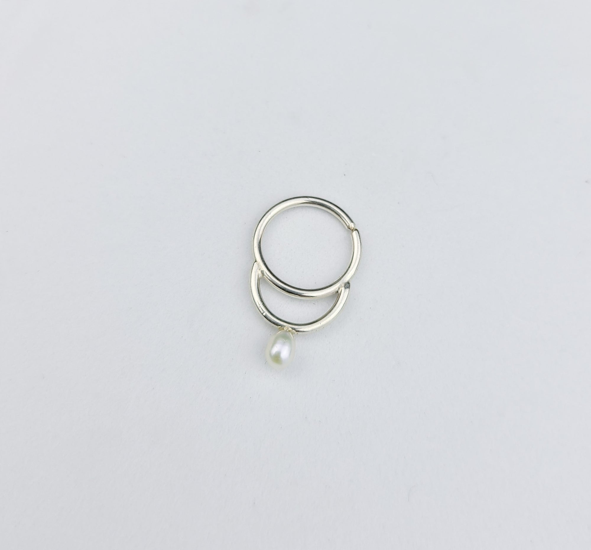 White Pearl Septum Ring