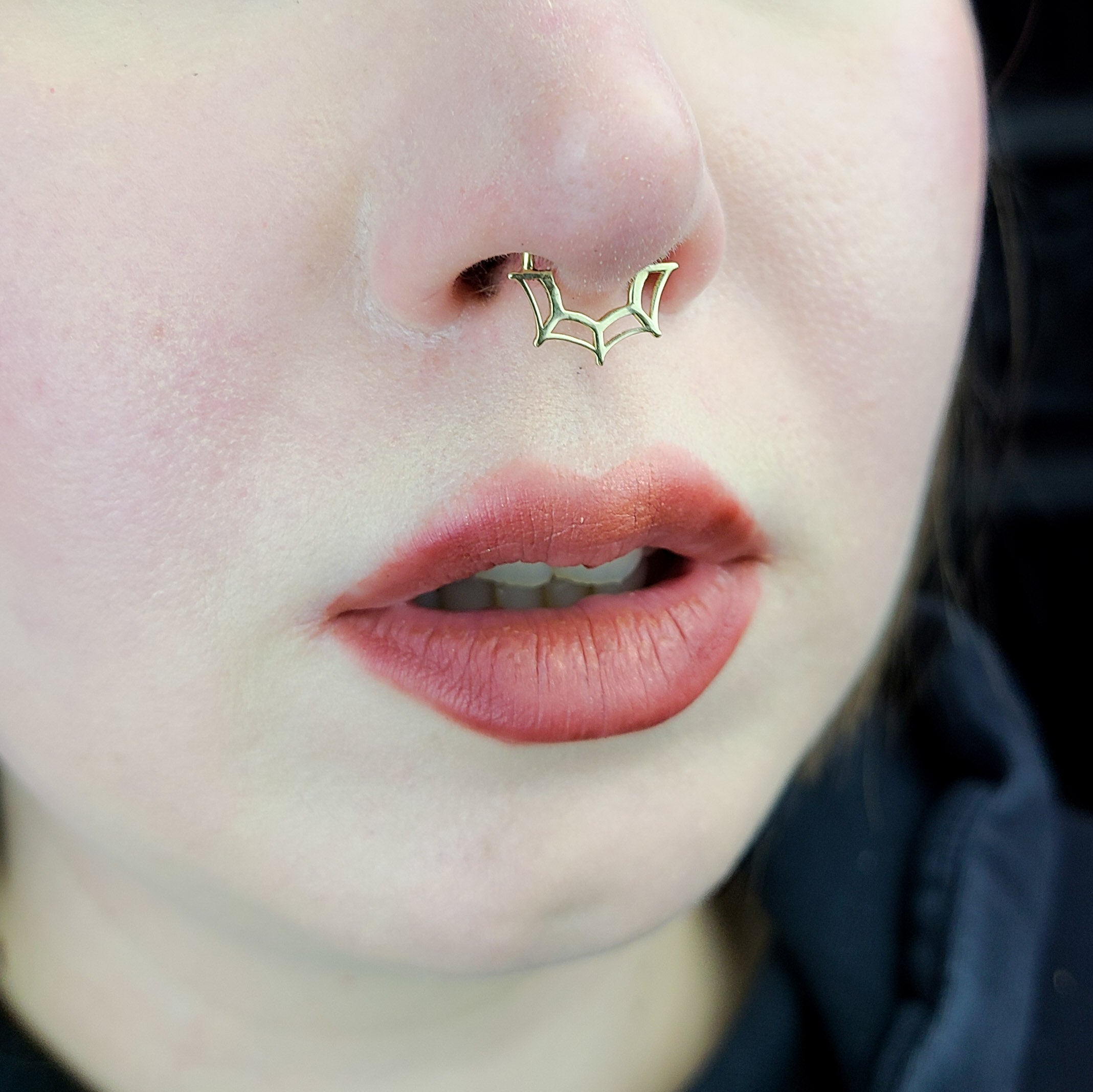 10K - 14K Yellow Gold Spider Web Septum