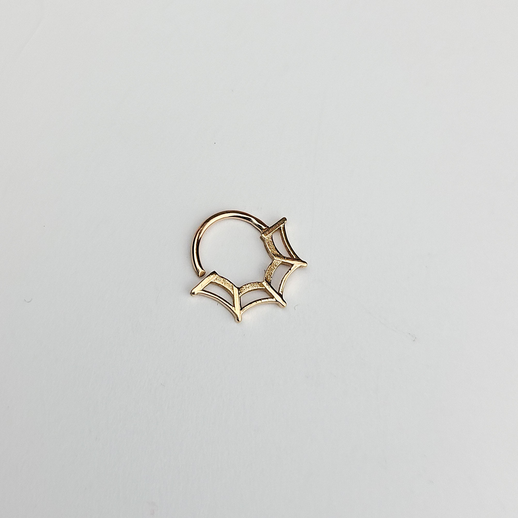10K - 14K Rose Gold Spiderweb Septum Piercing