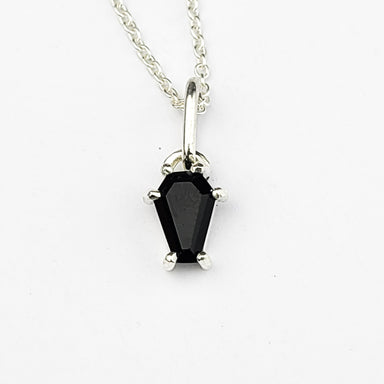 Tiny Black Coffin Pendant - Inchoo Bijoux
