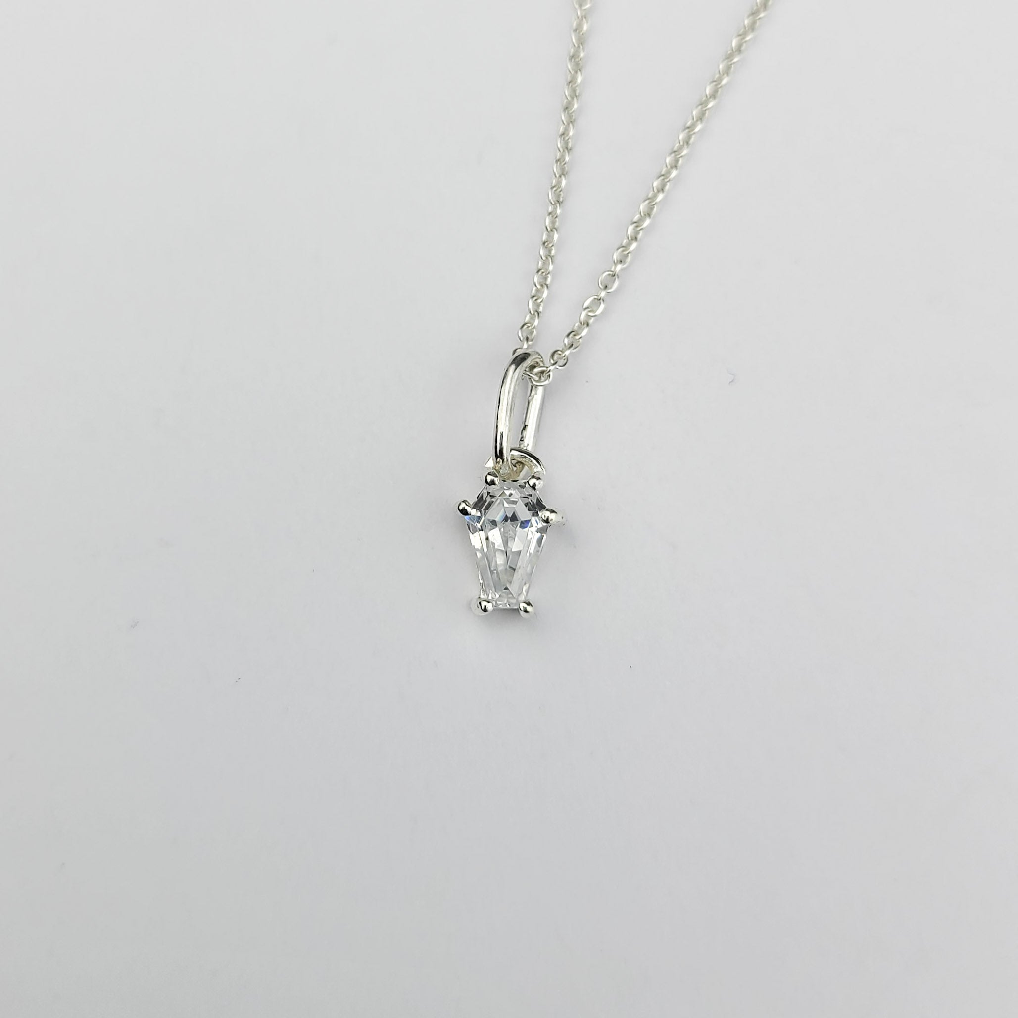 Non Diamond Coffin Pendant - Inchoo Bijoux