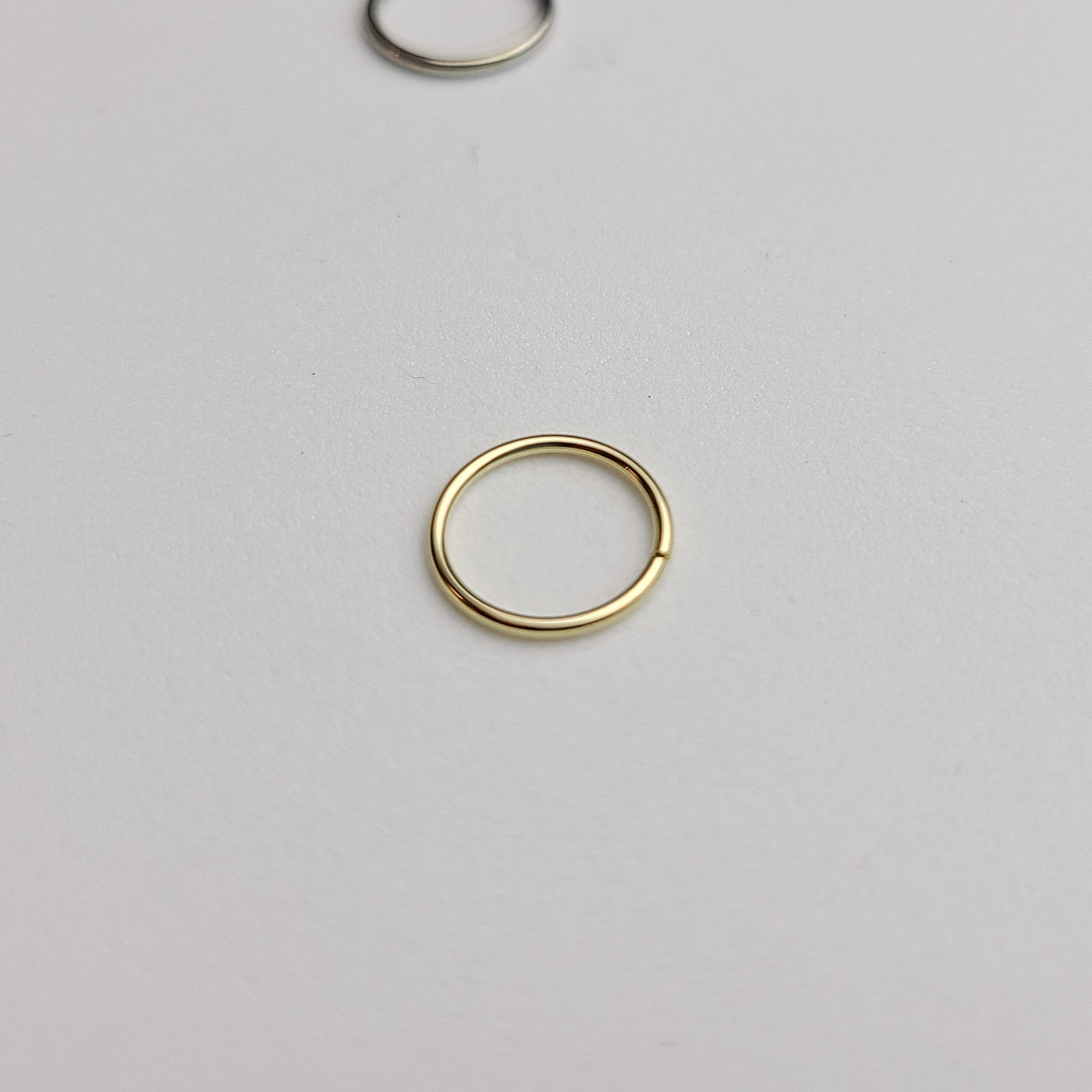 Yellow Gold Simple Septum Hoop 10K - 14K