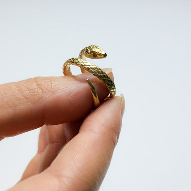 14k Yellow Gold Snake Wrap Ring-Ring-Inchoo Bijoux-Inchoo Bijoux