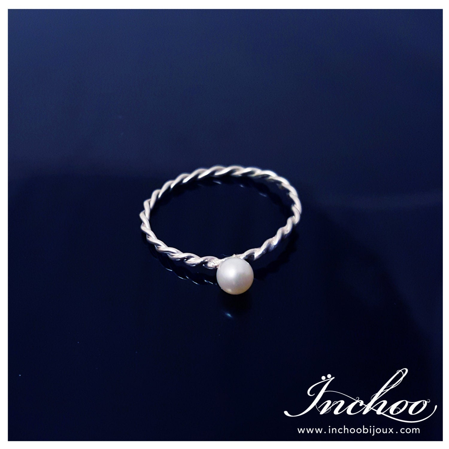 Silver White Pearl Ring - Inchoo Bijoux