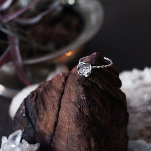 Silver Forged Rose Ring - Inchoo Bijoux