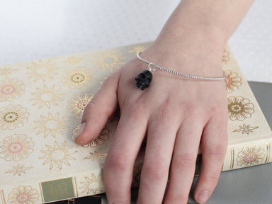 Black Skull Charm Bangle - Inchoo Bijoux