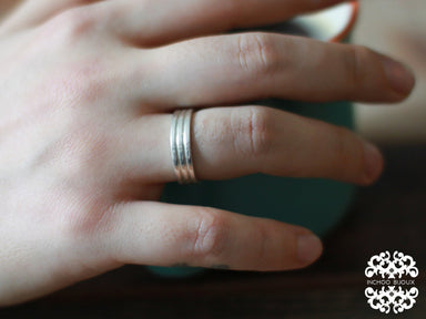 Silver Lined Ring Band-Ring-Inchoo Bijoux-Inchoo Bijoux