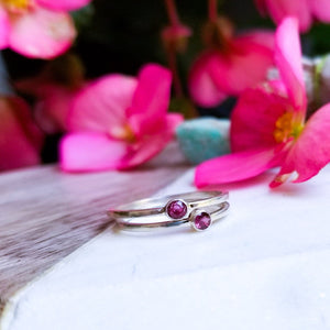 Silver Natural Ruby Ring - Inchoo Bijoux