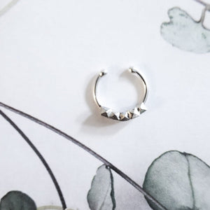 Studded Faceted Nose Ring - Inchoo Bijoux