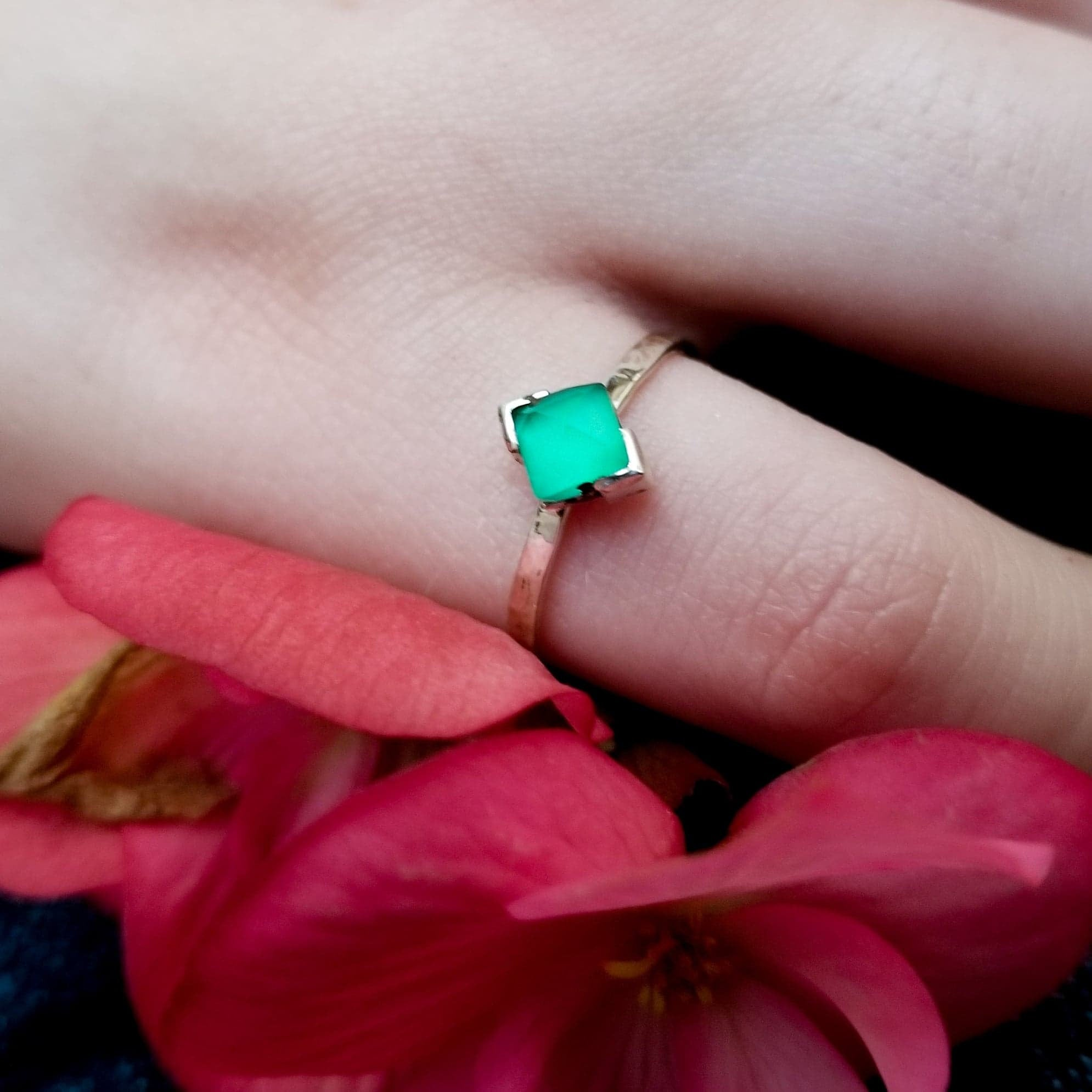Faceted Green Onyx Ring-Ring-Inchoo Bijoux-Inchoo Bijoux