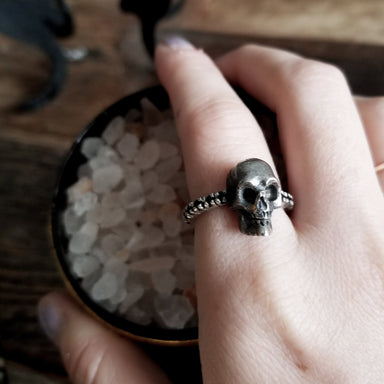 Black Diamond Skull Engagement Ring-Ring-Inchoo Bijoux-Inchoo Bijoux