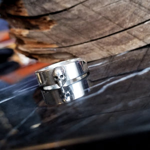 Silver Small Skull Ring Band - Inchoo Bijoux