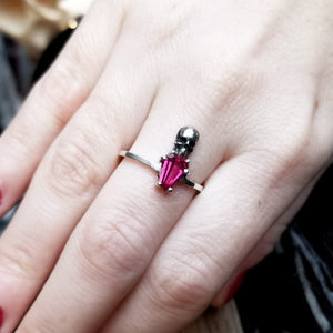 Skull Red Coffin Ring - Inchoo Bijoux