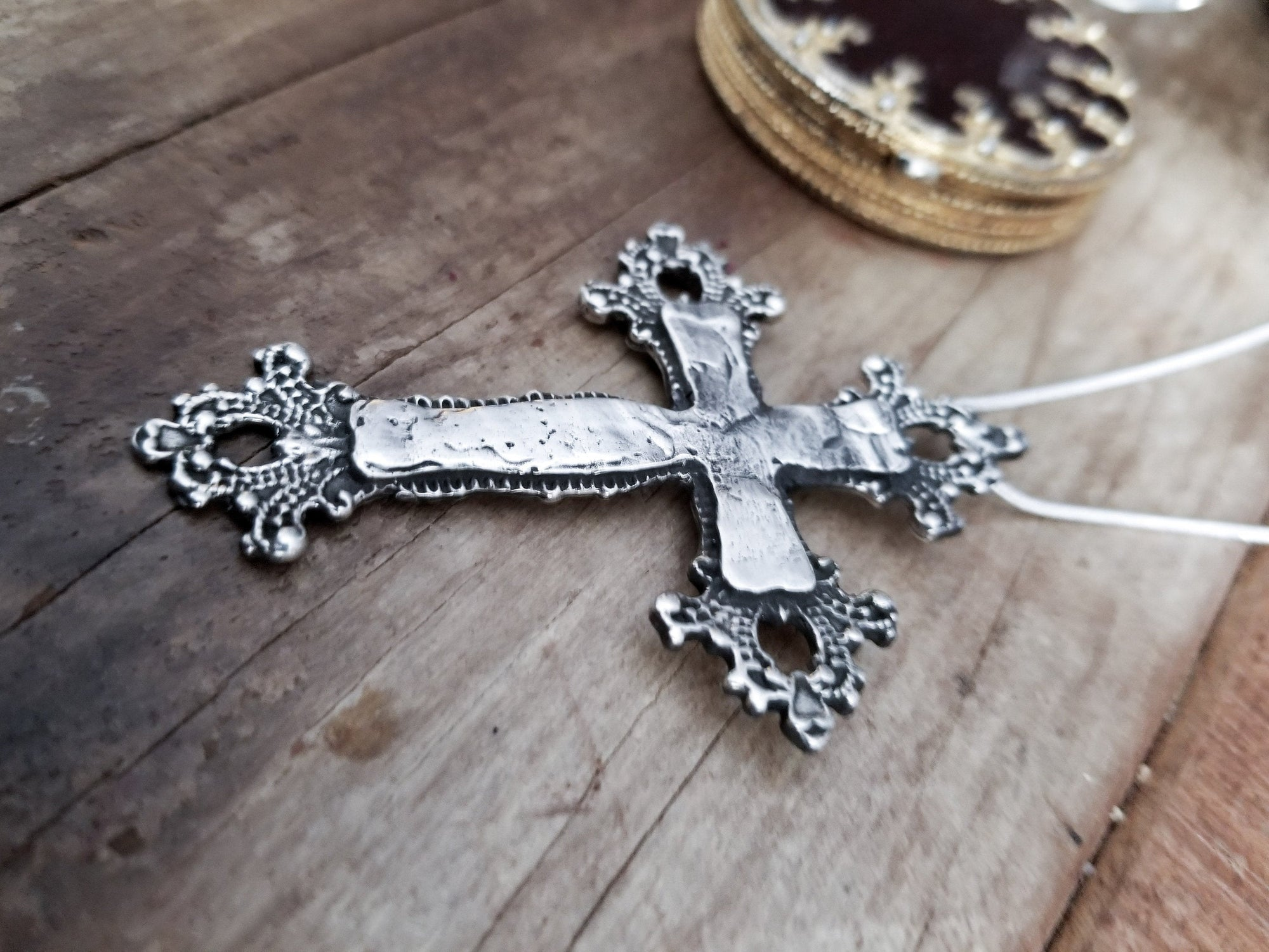 Big Baroque Cross Pendant - Inchoo Bijoux