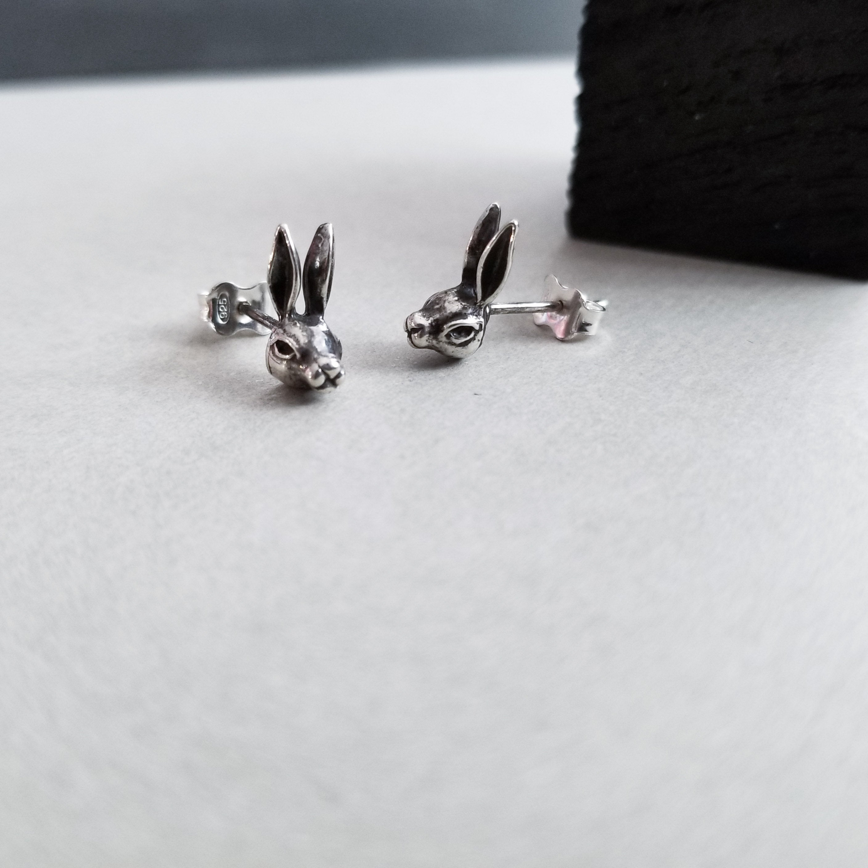 Silver Bunny Earrings - Inchoo Bijoux