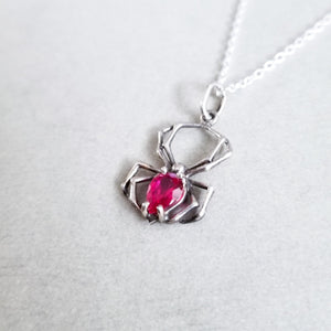 Radiant Red Spider Pendant - Inchoo Bijoux