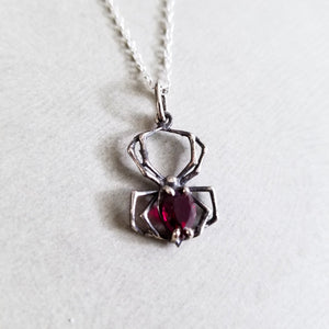 Blood Red Spider Pendant - Inchoo Bijoux