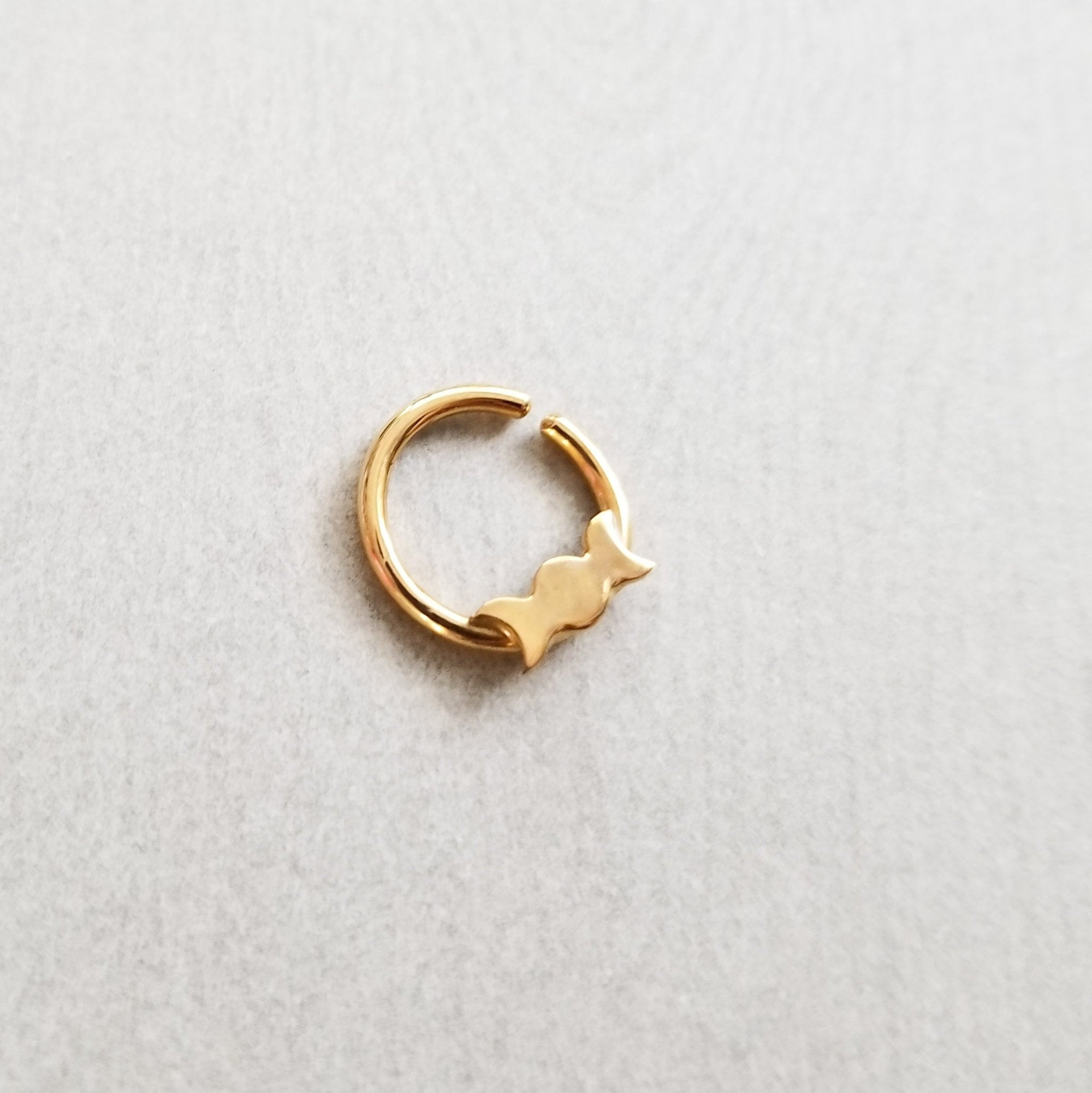 Yellow Gold Moon Nose Ring 14K - Inchoo Bijoux