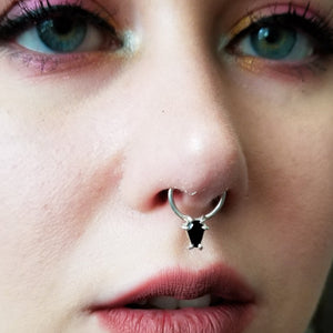 Black Onyx Coffin Septum - Inchoo Bijoux