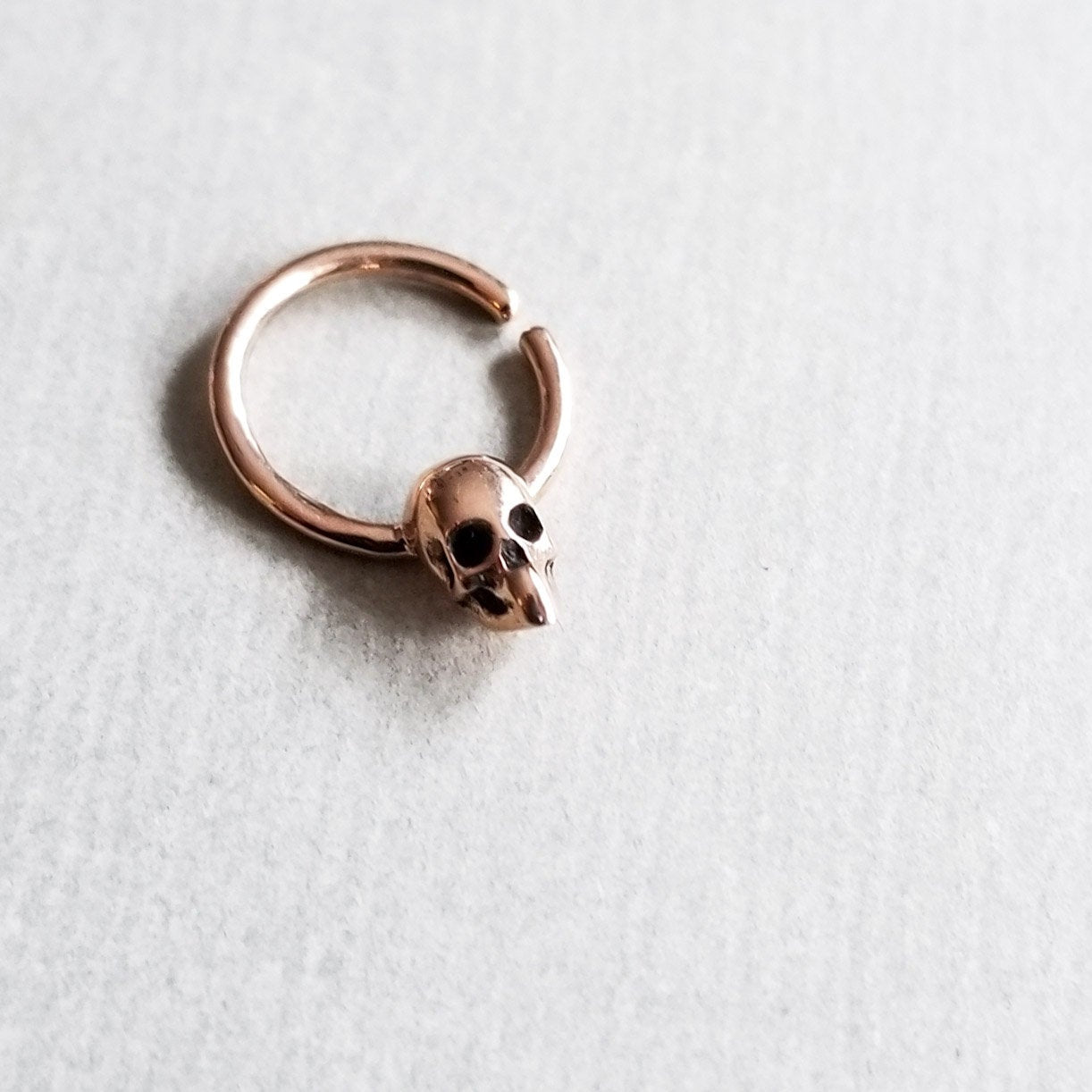 Rose Gold Skull Septum 14K - Inchoo Bijoux