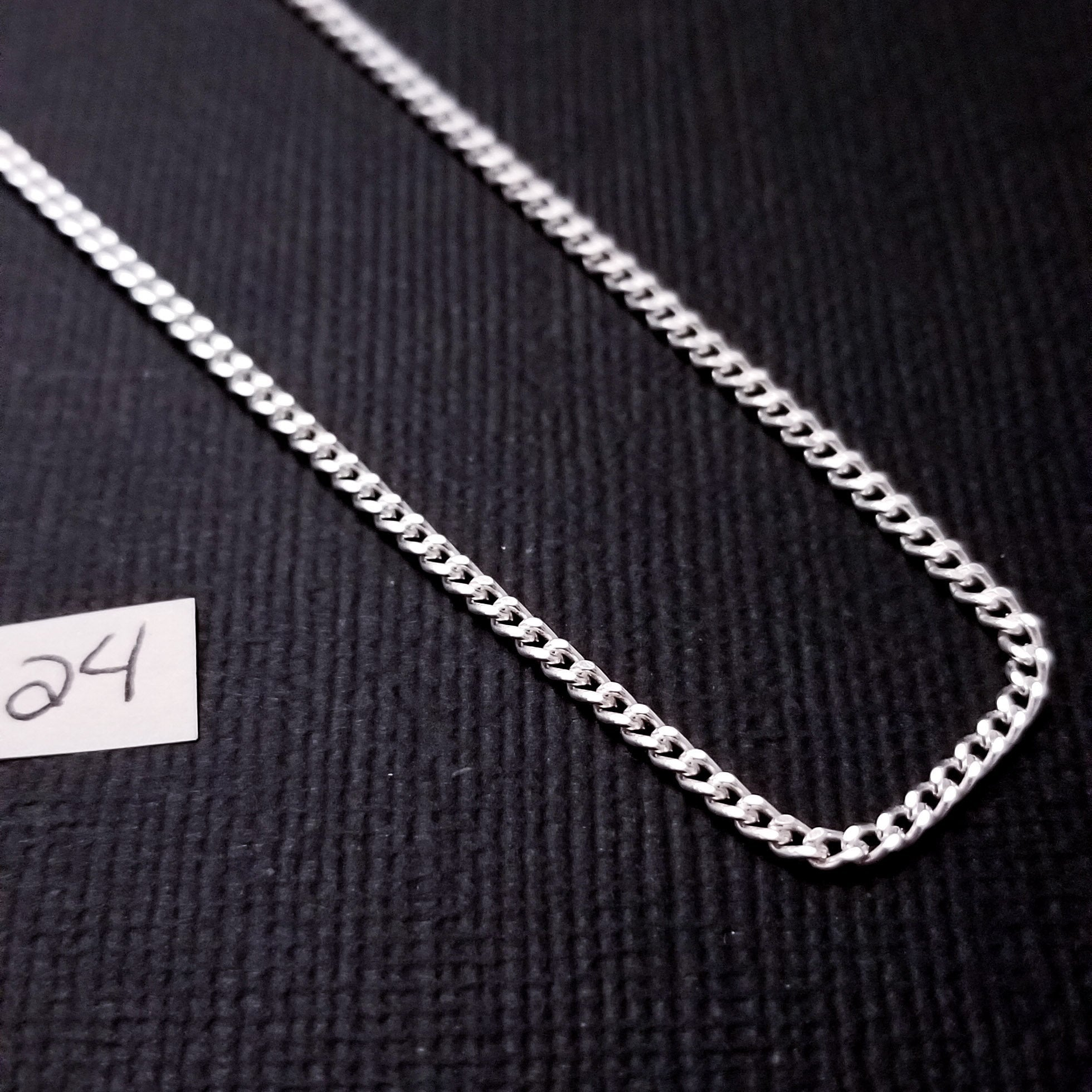 Sterling Silver 2mm Thick Flat Curb Chain - Inchoo Bijoux