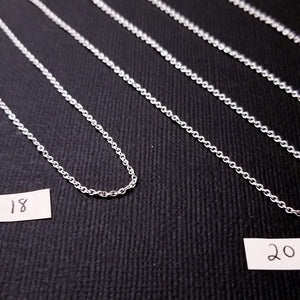 Sterling Silver 1mm Cable Style Chain - Inchoo Bijoux