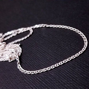 Sterling Silver Flat Mariner 2.3mm Chain - Inchoo Bijoux
