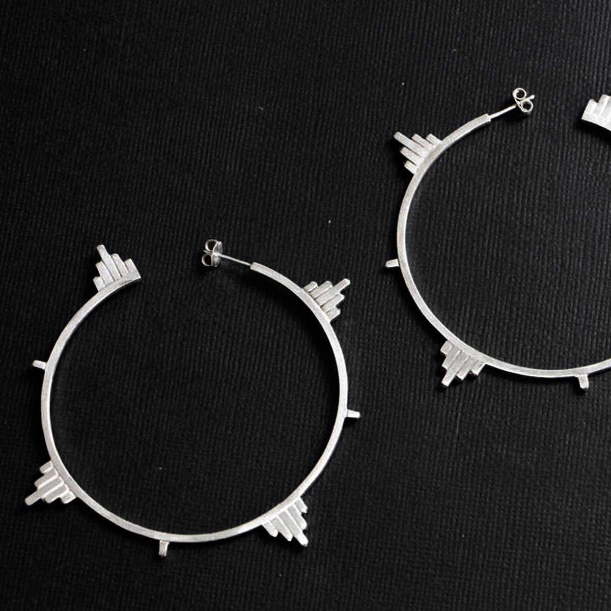 Big Celestial Hoop Architectural Earrings - Inchoo Bijoux