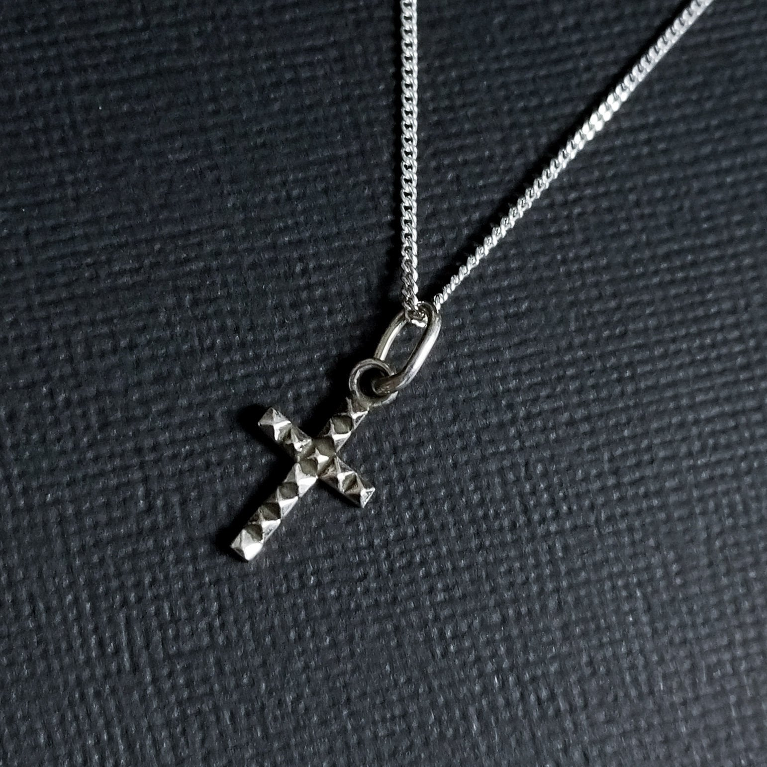 Tiny Studded Cross Pendant - Inchoo Bijoux