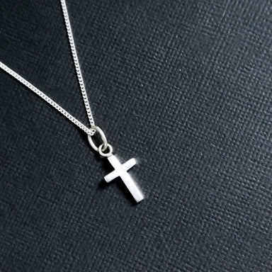 Tiny Silver Cross Pendant - Inchoo Bijoux