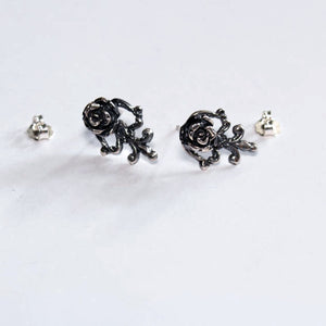 Victorian Rose and Lace Earrings Flower - Inchoo Bijoux