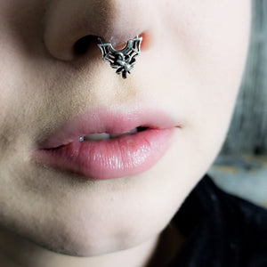 Tiny Spider and Web Septum Ring - Inchoo Bijoux