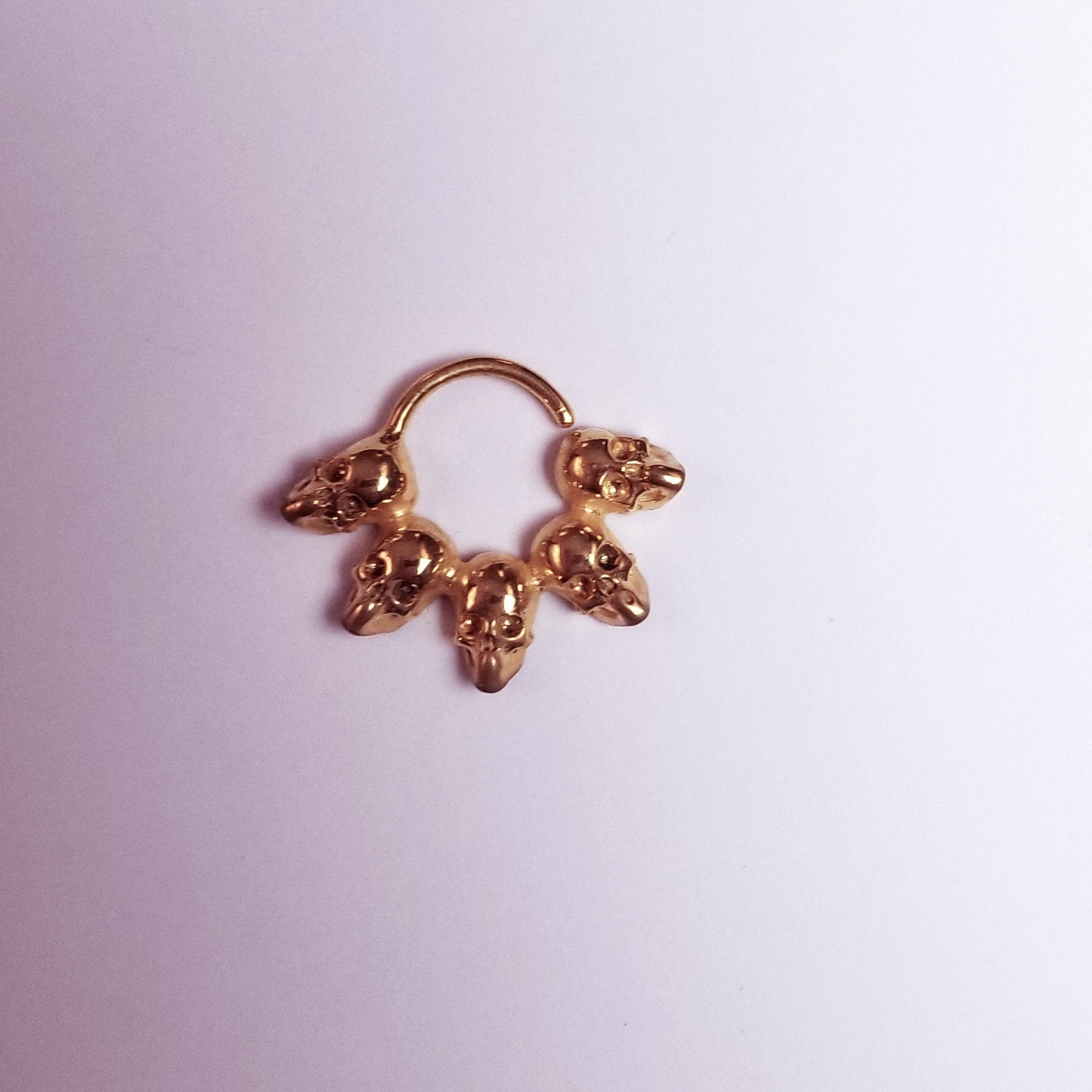 14K Rose Gold Skull Septum Ring-Septum-Inchoo Bijoux-Inchoo Bijoux