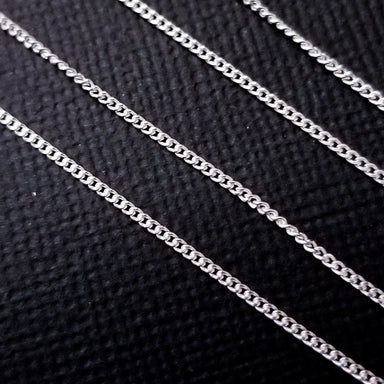 Sterling Silver 1.2mm Thin Flat Curb Chain - Inchoo Bijoux