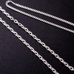 Sterling Silver 2.4 mm Cable Chain Style - Inchoo Bijoux