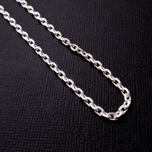 Sterling Silver 3.4 mm Heavy Cable Chain - Inchoo Bijoux