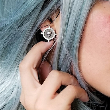 Unisex Skull Cross Stud Post Earrings - Inchoo Bijoux