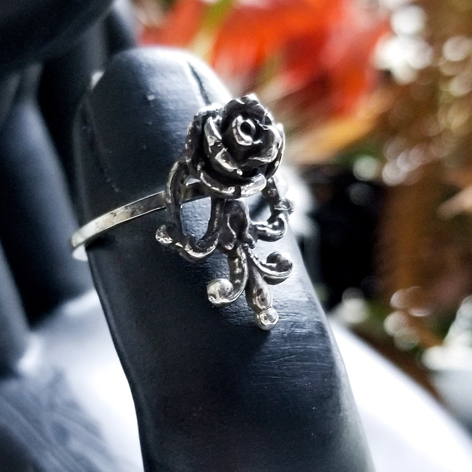 Victorian Rose and Lace Ring - Inchoo Bijoux