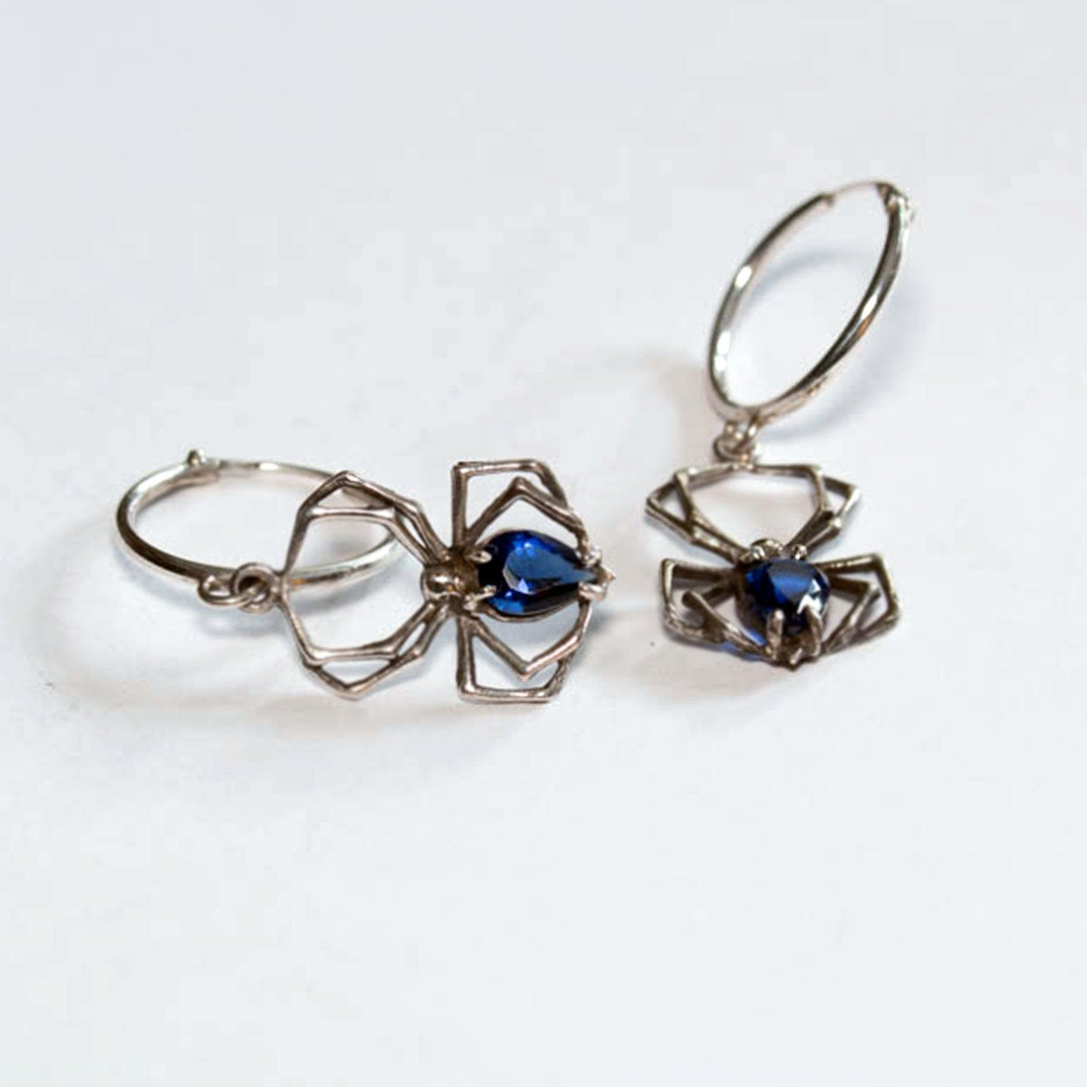 Cobalt Blue Spider Hoops - Inchoo Bijoux