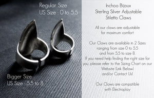 Silver Claw Stiletto Nail - Inchoo Bijoux