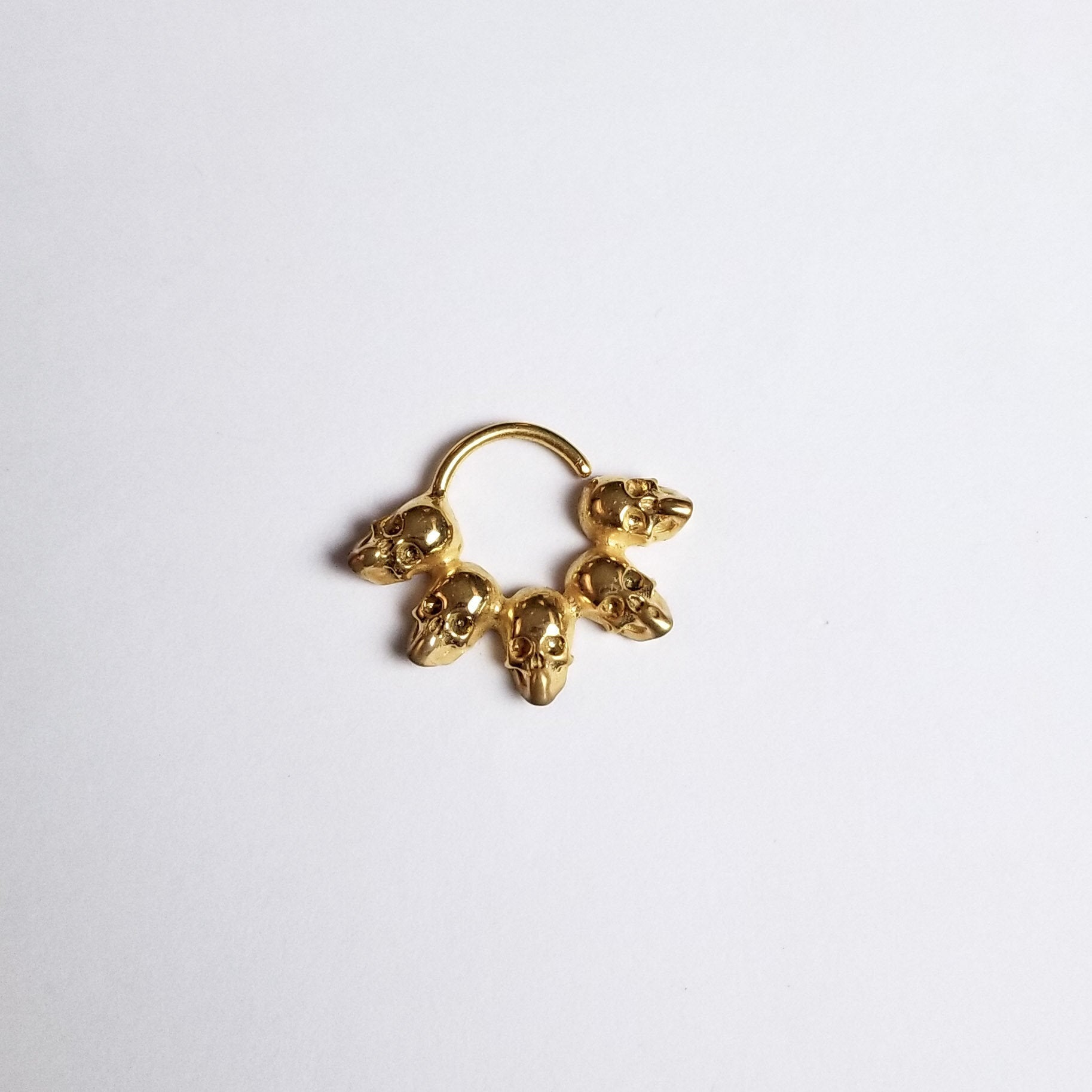 14K Yellow Gold Statement Skull Septum-Septum-Inchoo Bijoux-Inchoo Bijoux