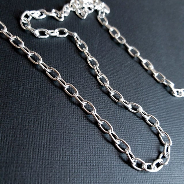 Massive Sterling Silver 5mm Cable Chain - Inchoo Bijoux