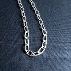 Massive Sterling Silver 6mm Cable Chain - Inchoo Bijoux